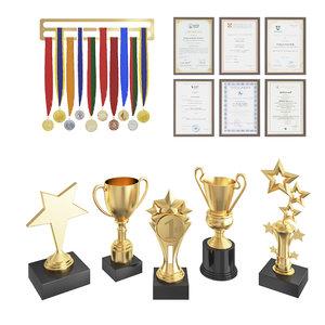set awards 3D model