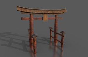 3D japanese torii modeled