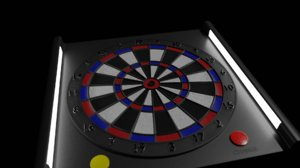 3D dartboard dart model