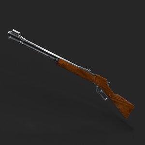 3D gun lever action model