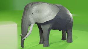 african elephant 3D