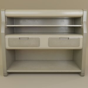 3D cabinets design retrofuturism