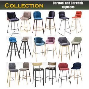 chair barstool bar model