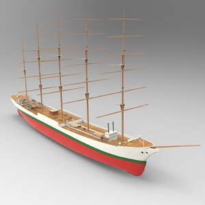 3D cutty sark ship model