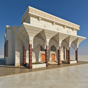 designs arabic islamic building 3D model