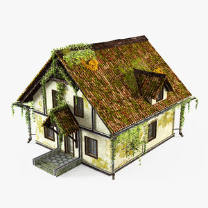 3D abandoned cottage