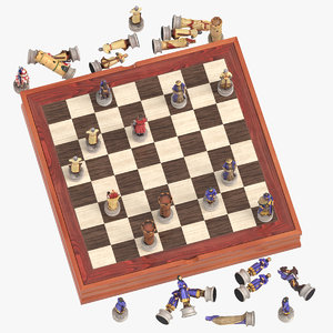 chess board set 01 3D