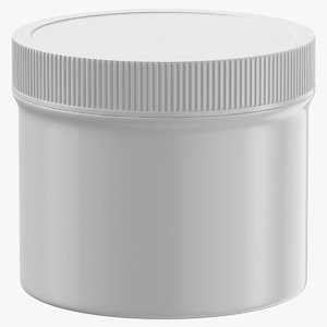3D plastic jar wide mouth model