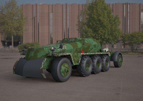3D replica sdkfz 250 military vehicle