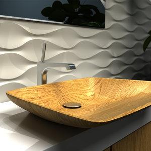 wood sink 3D model