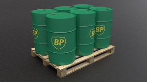 bp barrel pallet 3D