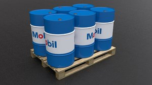 mobil barrel pallet model