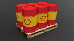 3D shell barrel pallet