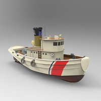 Tug Boat Low-poly