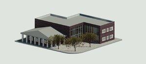3D architecture office building model