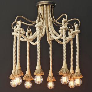 chandelier rope 8 loft 3D model