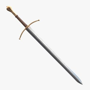medieval longsword metal sword 3D