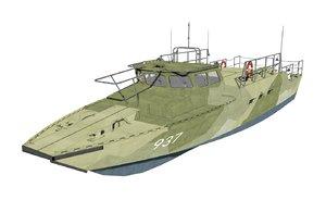 combat boat 90h 3D model