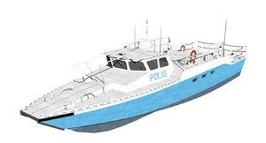3D combat boat 90h vessel