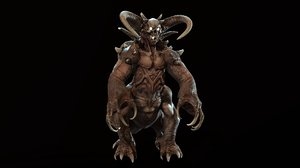 3D model character demon hound