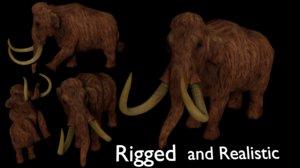 3D mammoth mamoth realistic