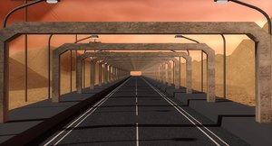 highway way 3D model