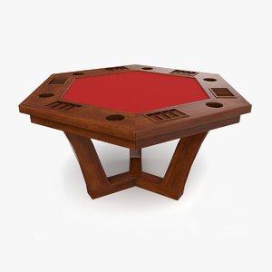 3D poker table model