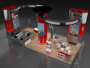 stand exhibition booth model
