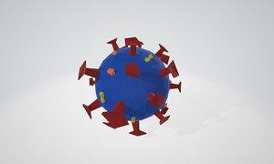 3D virus covid-19 model
