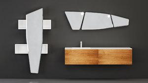 3D furniture arblu lineo vanity