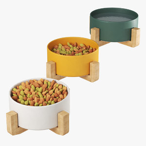 pet elevated feeder food 3D