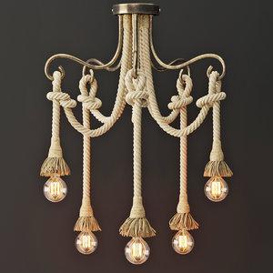 chandelier rope 5 loft 3D model