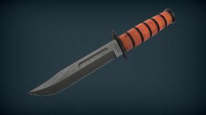 3D ka ka-bar knife