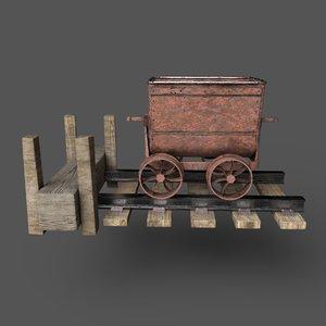 mining cart 3D model