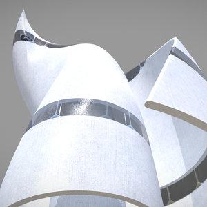 3D pbr building architectural model