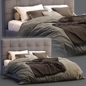 boconcept bed mezzo 3D model