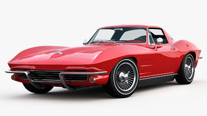 chevrolet corvette c2 sting 3D model