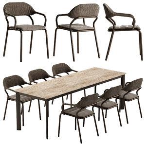 table noss chair 3D model