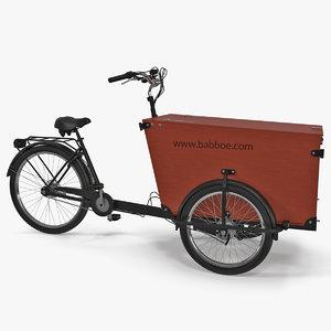 babboe transporter cargo bike 3D