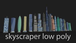 buildings skyscraper architecture 3D model