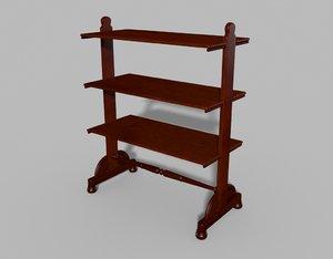 antique tiered buffet 3D