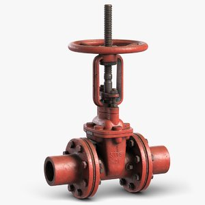 industrial pipe valve 1 3D model