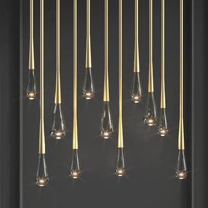 3D teardrop 2 0 chandelier model