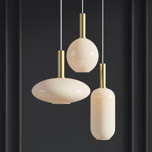 - pendant light ferm 3D model