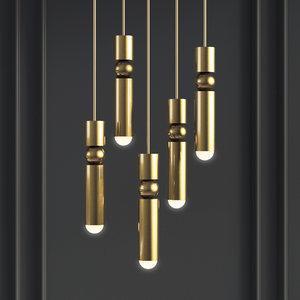 fulcrum light gold - 3D model
