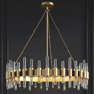 haskell large chandelier arteriors 3D model