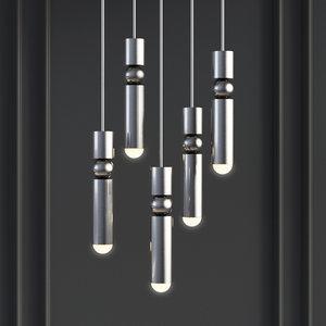 fulcrum light polished chrome 3D model