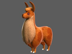 lama v01 cartoon animal 3D model