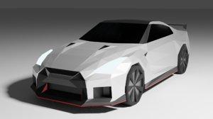 3D model gtr car