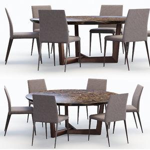 3D model bonaldo chair bel air
